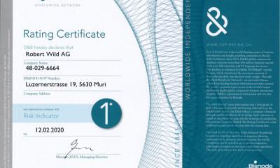 Rating Certificate